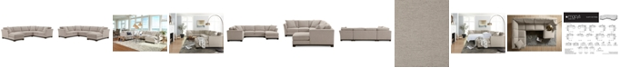 """Furniture Elliot II 138"""" Fabric 3-Pc. Chaise Sectional, Created for Macy's"""
