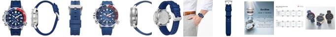 Citizen Eco-Drive Men's Promaster Aqualand Blue Silicone Strap Watch 46mm