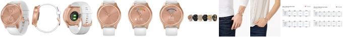 Garmin Unisex vívomove Style White Silicone Strap Touchscreen Hybrid Smart Watch 42mm