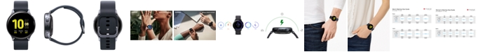 Samsung Galaxy Active 2 Black Silicone Strap Touchscreen Smart Watch 40mm