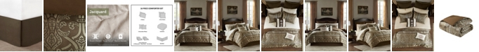 JLA Home Zara King 16 Piece Jacquard Complete Bedding Set With 2 Sheet Sets