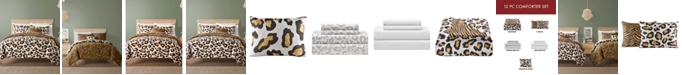 Sunham Safari Reversible 12-Pc. Comforter Sets