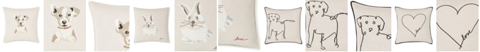 """ED Ellen Degeneres 20"""" L x 20"""" W Embroidered Square Pillow Collection"""