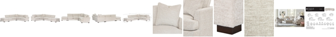 """Furniture Juliam 4-Pc. Fabric Open """"L"""" Shape Sectional Sofa, Created for Macy's"""
