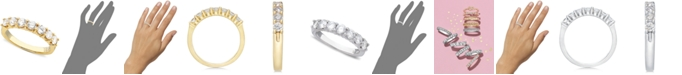 Macy's Seven Diamond Band in 14k Gold or White Gold (1 ct. t.w.)