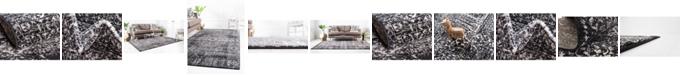 Bridgeport Home Wisdom Wis3 Black Area Rug Collection