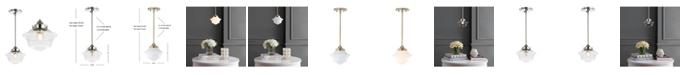 "JONATHAN Y Kurtz 7.2"" Adjustable Drop LED Pendant"