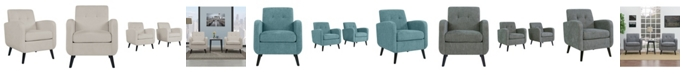 Handy Living Thoms Mid Century Modern Arm Chair Set