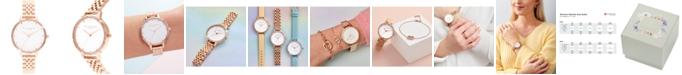 Olivia Burton Women's Rainbow Rose Gold-Tone Stainless Steel Bracelet Watch 34mm