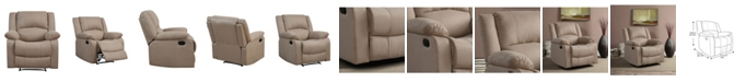 Lifestyle Solutions Preston Recliner With Microfiber Upholstery and Wood Frame
