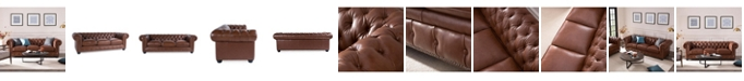 Nice Link Alexandon Leather Chesterfield Sofa