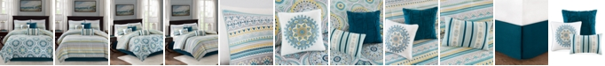 Madison Park Mercia 7-Pc. Cotton Reversible Queen Comforter Set