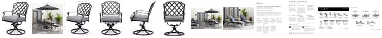 Furniture Vintage II Swivel Chair With Sunbrella® Cushion, Created for Macy's