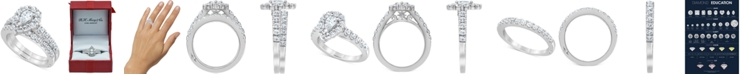 Marchesa Certified Diamond Pear Halo Bridal Set (2 ct. t.w.) in 18K White, Yellow or Rose Gold