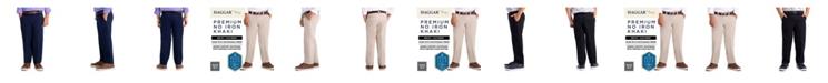 Haggar Little Boys Premium No Iron Khaki, Reg Fit, Flat Front Pant
