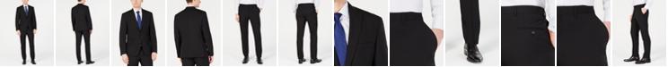DKNY Men's Modern-Fit Stretch Black Solid Suit Separates