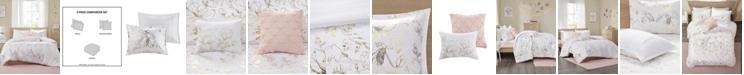 Intelligent Design Magnolia Metallic Floral 5-Piece Full/Queen Comforter Set