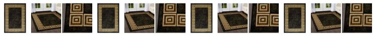 Global Rug Designs Global Rug Design Vision VIS06 Black Area Rug Collection