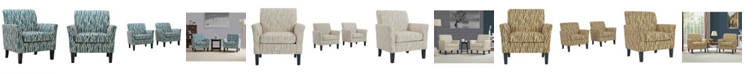 Handy Living Marquee Flared Arm Chair Set
