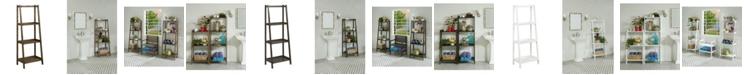 New Ridge Home Goods Dunnsville 4-Tier Ladder Leaning Shelf Bookcase