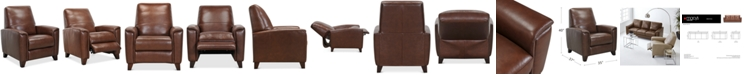 "Furniture Brayna 35"" Leather Pushback Recliner, Created for Macy's"
