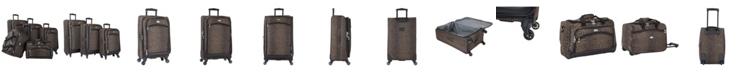 American Flyer AnimalPrint 5 Piece Spinner Luggage Set