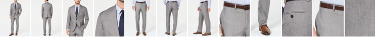 Dockers Men's Modern-Fit Light Gray Sharkskin Suit