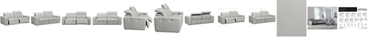 Furniture Haigan 2-Pc. Leather Sectional Sofa with 2 Power Recliners, Created for Macy's