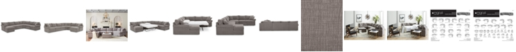 Furniture Wedport 5-Pc. Fabric Modular Chaise Sleeper Sectional Sofa with Wedge Corner Piece, Created for Macy's