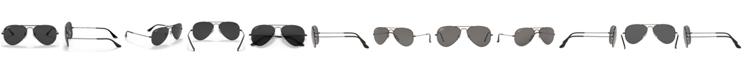 Ray-Ban Unisex Polarized Aviator Sunglasses, RB3025 58