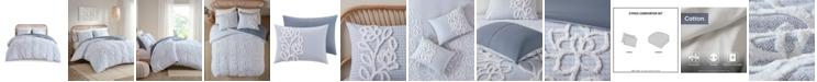 Madison Park Aitana Full/Queen Tufted Cotton Chenille Comforter, Set of 3