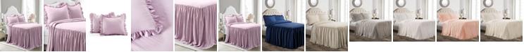 Lush Decor Ruffle Skirt 3-Piece Queen Bedspread Set