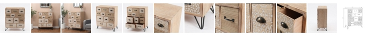 Luxen Home Metal And Wood Multi-Storage Cabinet