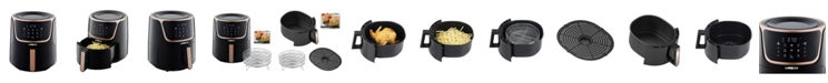 GoWISE USA Air Fryer with Dehydrator and 3 Stackable Racks, 7 Quart