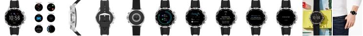 Fossil Men's Gen 5 HR Black Silicone Strap Touchscreen Smart Watch 46mm