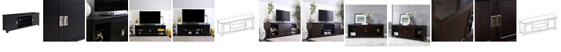 """Walker Edison 70"""" Wood Media TV Stand Console with Sliding Doors"""