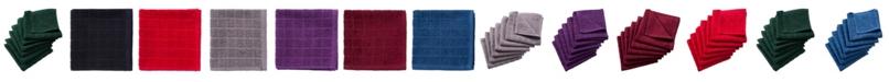 Design Imports Solid Windowpane Terry Dishcloth, Set of 6