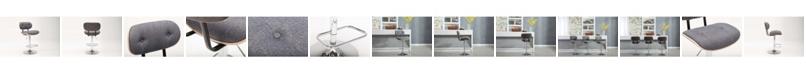 Boraam Smuk Collection Bentwood Adjustable Swivel Stool