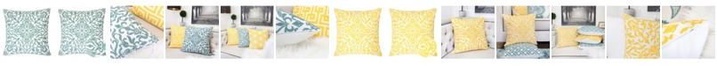 Homey Cozy Victoria Cotton Square Decorative Throw Pillow