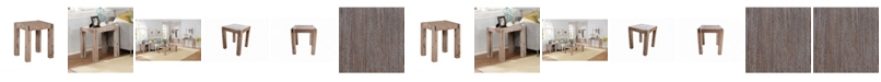 """Alaterre Furniture Woodstock 45"""" Acacia Wood With Metal Inset Coffee Table"""