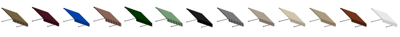 """Awntech 5' Santa Fe Twisted Rope Arm Window/Entry Awning, 24"""" H x 12"""" D"""