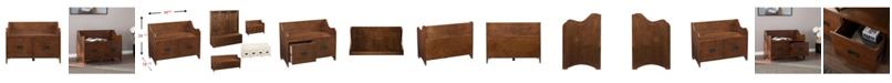Southern Enterprises Charleigh 2-Drawer Storage Bench