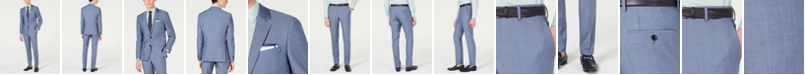 HUGO Men's Slim-Fit Pin-Dot Suit Separates