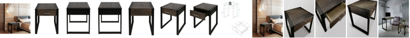 Yu Shan Austin End Table with Solid American Oak