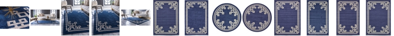 Bridgeport Home Anzu Anz3 Navy Blue Area Rug Collection
