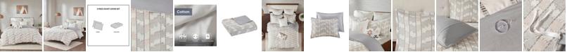 INK+IVY Suri 3-Piece Full/Queen Cotton Jacquard Duvet Cover Set