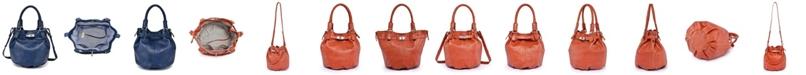 OLD TREND Pumpkin Leather Bucket Bag