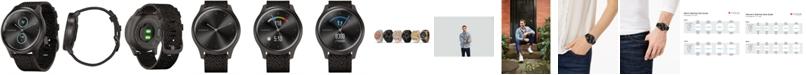 Garmin Unisex vívomove Style Black Pepper Nylon Strap Touchscreen Hybrid Smart Watch 42mm