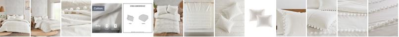 Madison Park Leona Full/Queen 3-Pc. Pom Pom Cotton Comforter Set