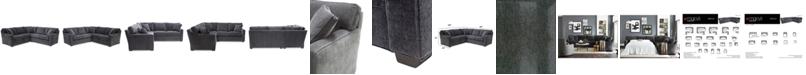 Furniture Brekton 2-Pc. Fabric Sofa Return